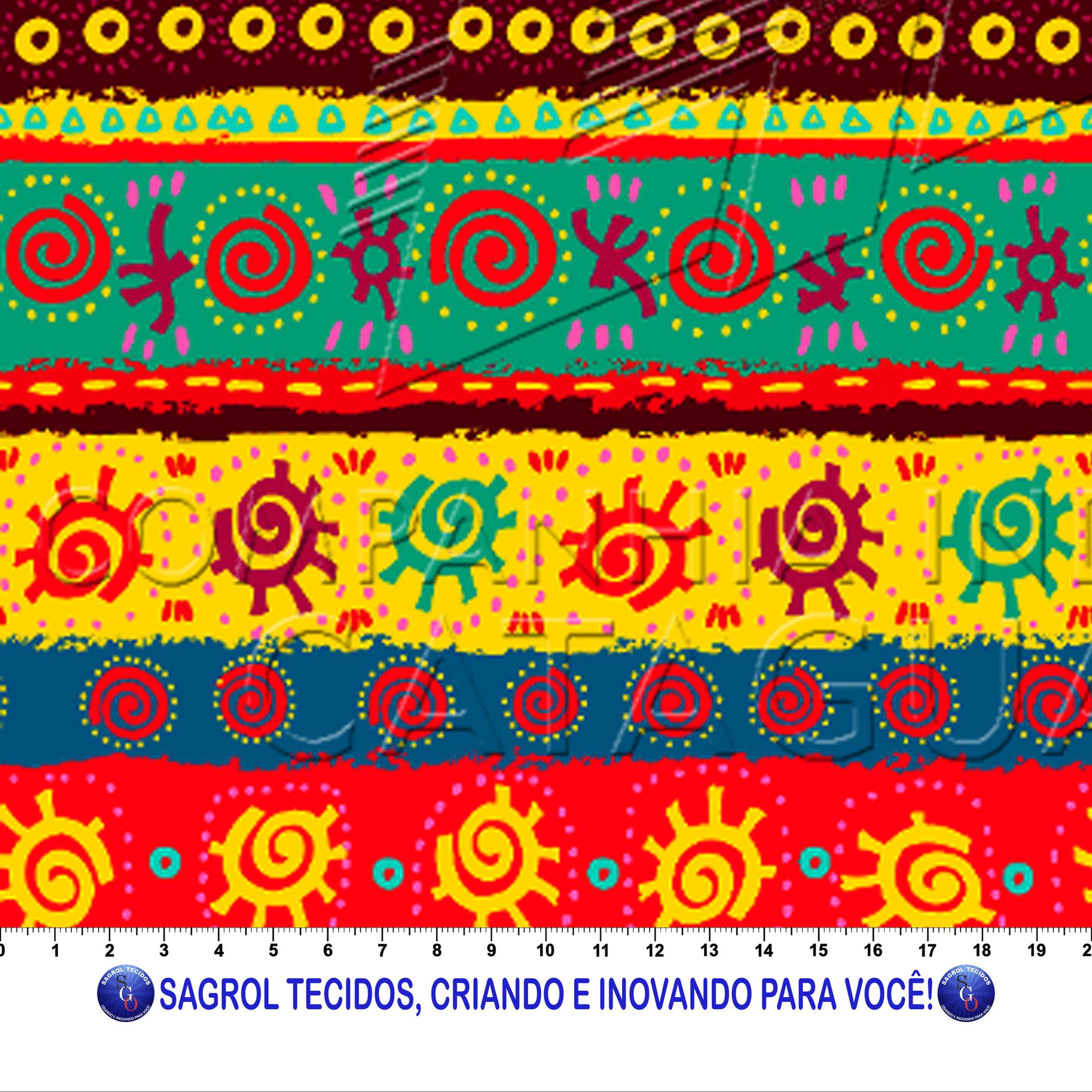TRICOLINE ESTAMPA DIGITAL AFRO GEOMÉTRICA 100% ALGODÃO COM 1,50 LG 5F98B20A384C1
