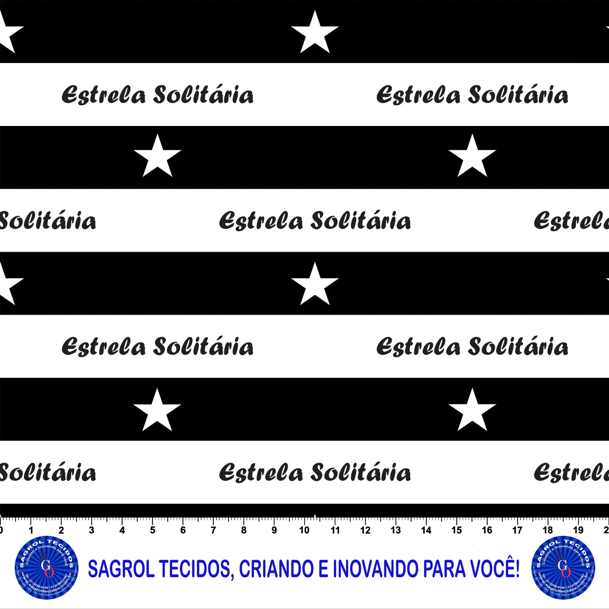 TRICOLINE ESTAMPA DIGITAL BOTAFOGO ESTRELA SOLITÁRIA  100% ALGODÃO COM 1,50 LG