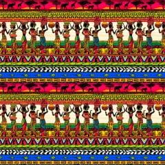 TRICOLINE ESTAMPA DIGITAL AFRICANAS COM JARROS - REF. ST 308