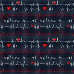 TRICOLINE ESTAMPA DIGITAL (ECG ) ELETROCARDIOGRAMA FUNDO MARINHO 100% ALGODÃO COM 1,50 LG