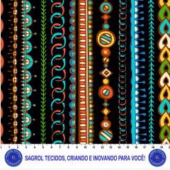 TRICOLINE ESTAMPA DIGITAL AFRICANA 100% ALGODÃO COM 1,50 LG 5F84F7CF91462