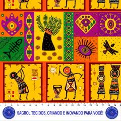TRICOLINE ESTAMPA DIGITAL AFRO 100% ALGODÃO COM 1,50 LG 5FA00FDF57FDC