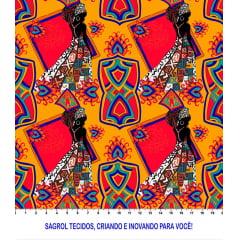 TRICOLINE ESTAMPA DIGITAL AFRO 100% ALGODÃO COM 1,50 LG 6095F044C8610