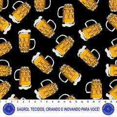 TRICOLINE ESTAMPA DIGITAL BEER 100% ALGODÃO COM 1,50 LG ST 345