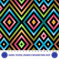 TRICOLINE ESTAMPA DIGITAL GEOMÉTRICA 100% ALGODÃO COM 1,50 LG 5FBDBD04EC220