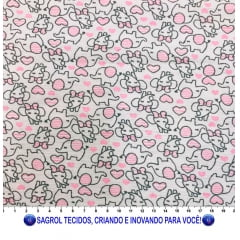 FLANELA ESTAMPADA PARA CUEIROS 100% ALGODÃO COM 0,80 LG - REF. 882