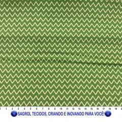 TECIDO TRICOLINE ESTAMPADA CHEVRON SAFARI 100% ALGODÃO COM 1,50 LG