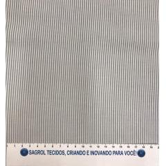 TECIDO TRICOLINE FIO-TINTO LISTRAS D. JUAN CINZA - REF. 695
