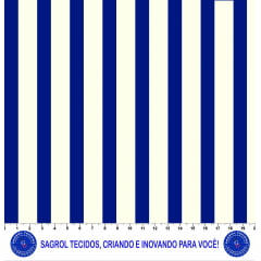 TECIDO TRICOLINE ESTAMPA LISTRAS MARINHO E MARFIM TRICOLINE 100% ALGODÃO COM 1,50 LG