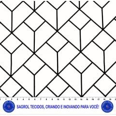 TECIDO TRICOLINE ESTAMPA MONOCHROMO 100% ALGODÃO COM 1,50 LG 5EF5166F2F89A