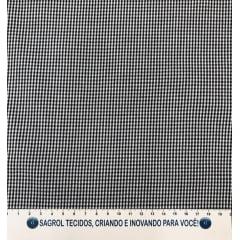 TECIDO TRICOLINE FIO-TINTO VICHY XADREZ 1XM - PRETO - 100% ALGODÃO COM 1,50 LG - REF. 703