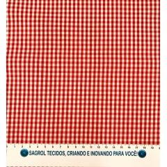 TECIDO TRICOLINE FIO-TINTO VICHY XADREZ 8XM - VERMELHO - 100% ALGODÃO COM 1,50 LG - REF. 710