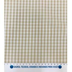 TECIDO TRICOLINE FIO-TINTO VICHY XADREZ 9XM - BEGE - 100% ALGODÃO COM 1,50 LG - REF. 715