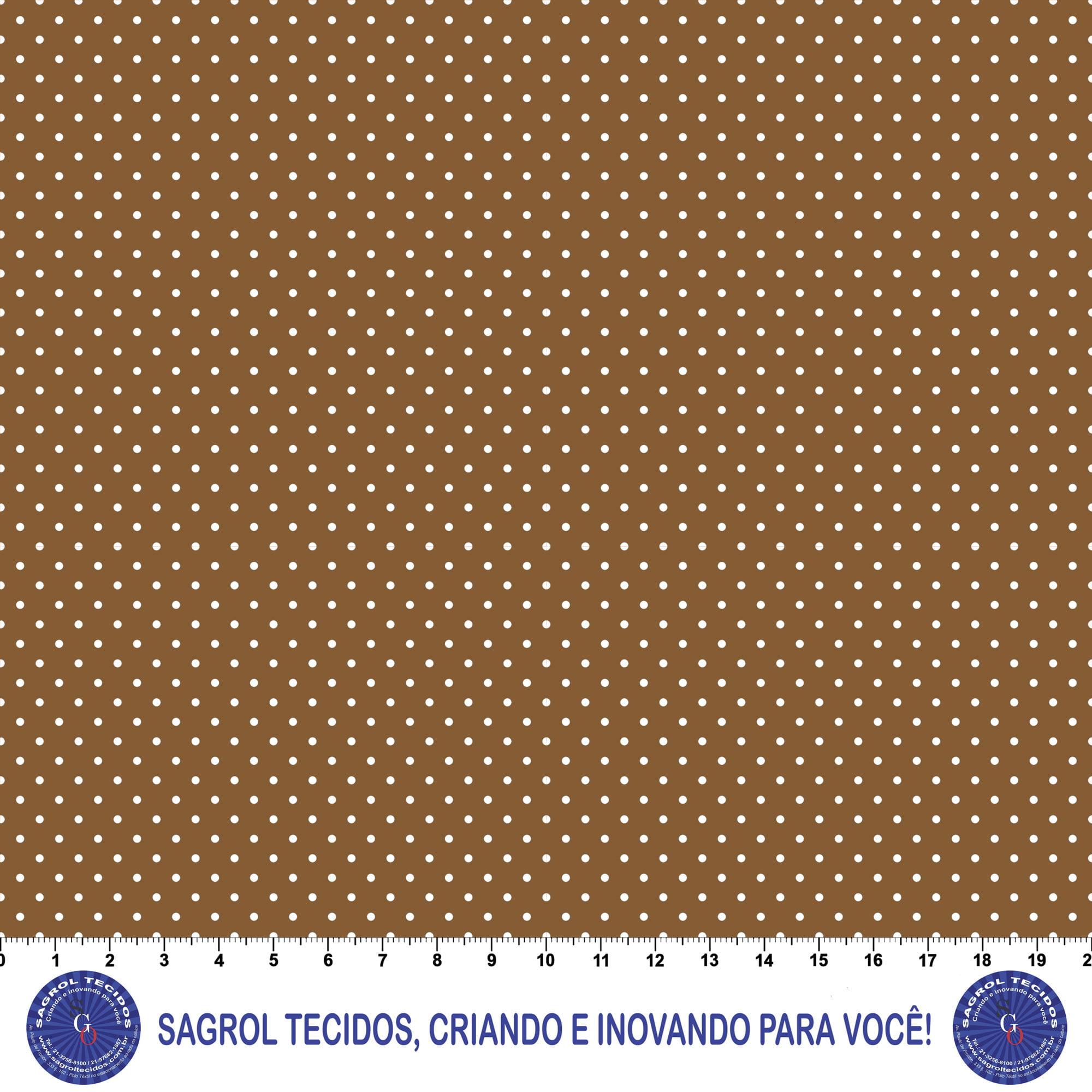 TECIDO TRICOLINE ESTAMPA POÁ ALFINETE 100% ALGODÃO COM 1,50 LG 5FD8F6870846B